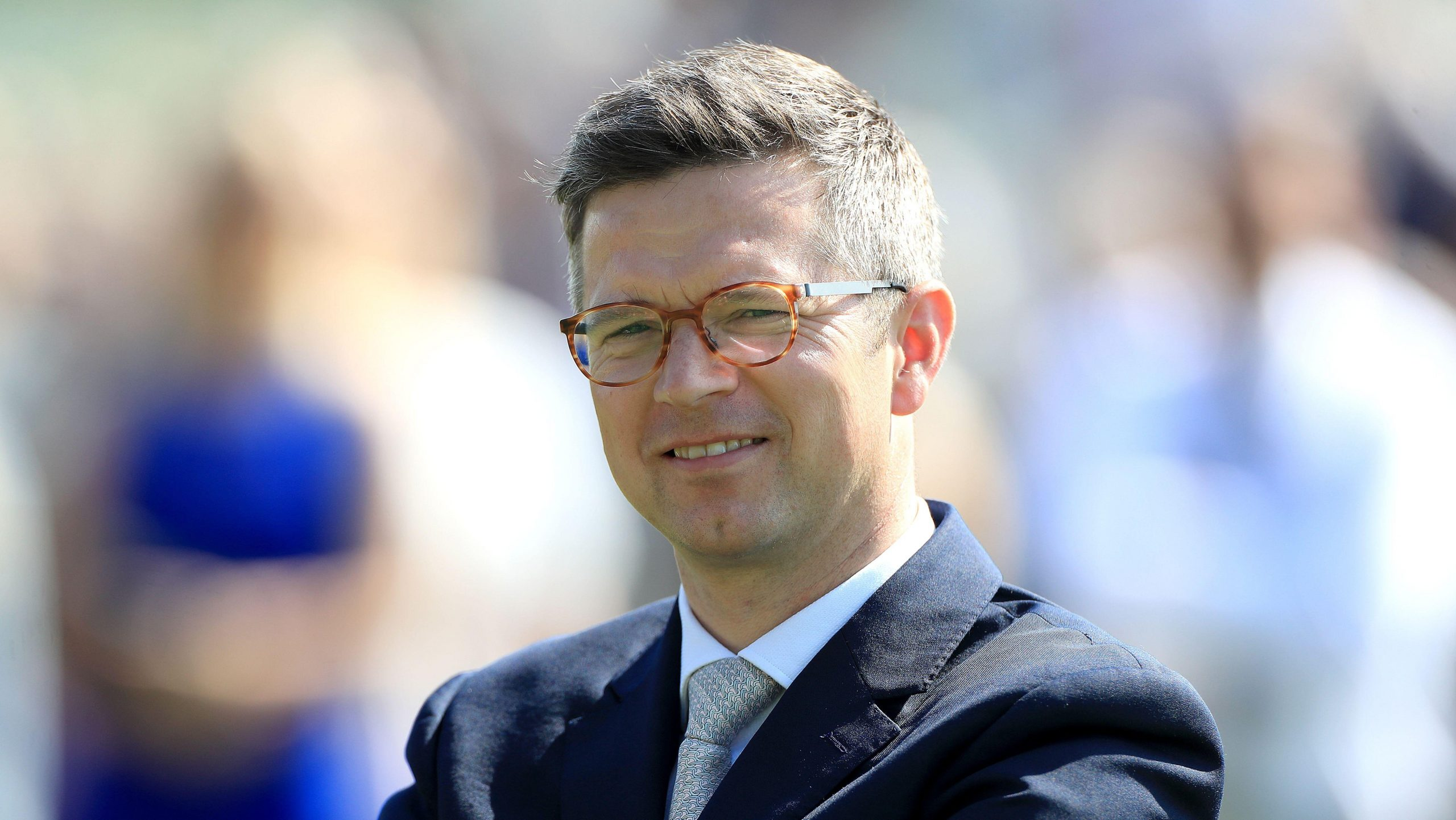 Roger Varian looks on at York Racecourse