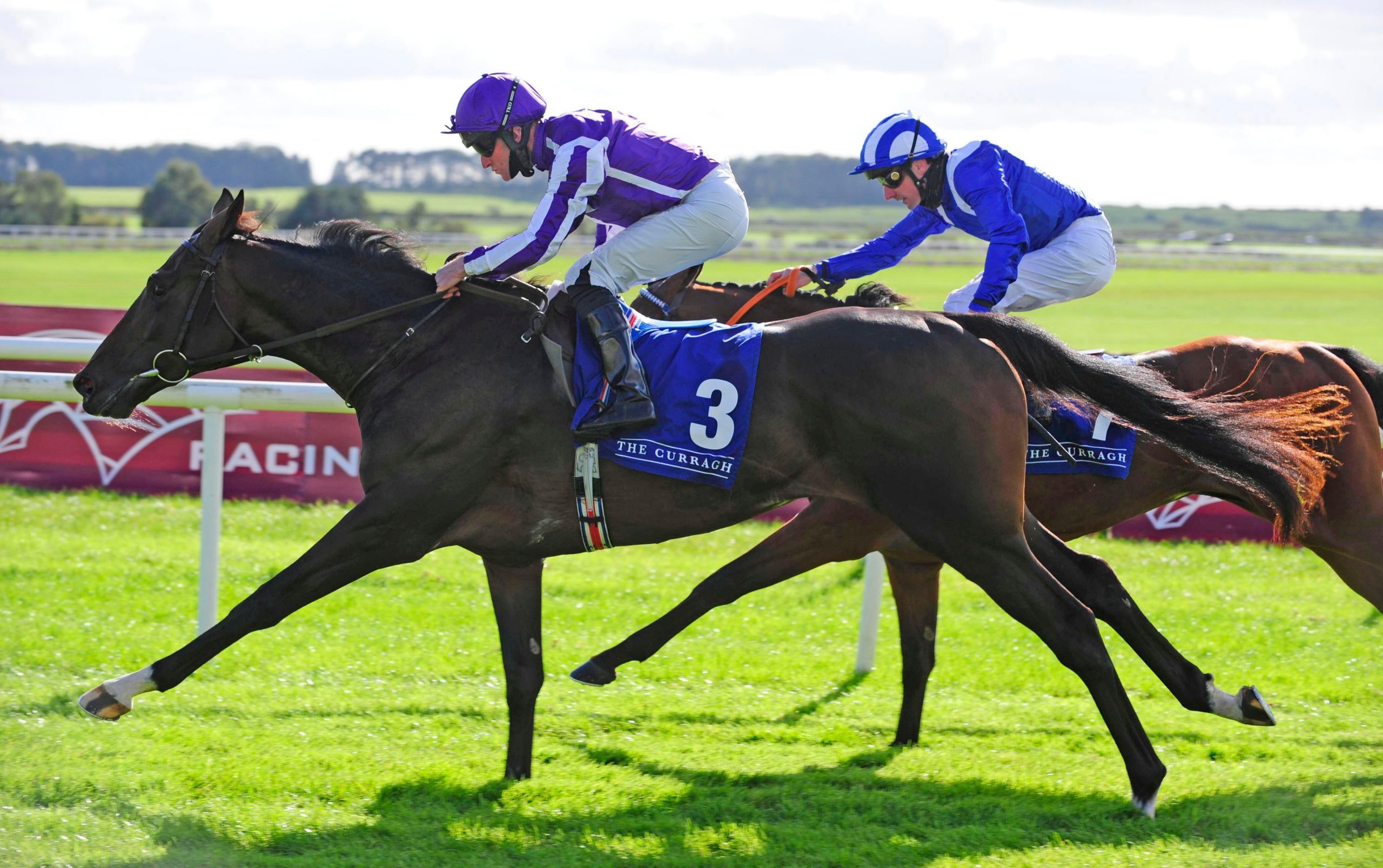 High Definition ridden by jockey Seamie Heffernan wins The Alan Smurfit Memorial Beresford Stakes (Group 2) during day one of the Autumn Festival at Curragh Racecourse.