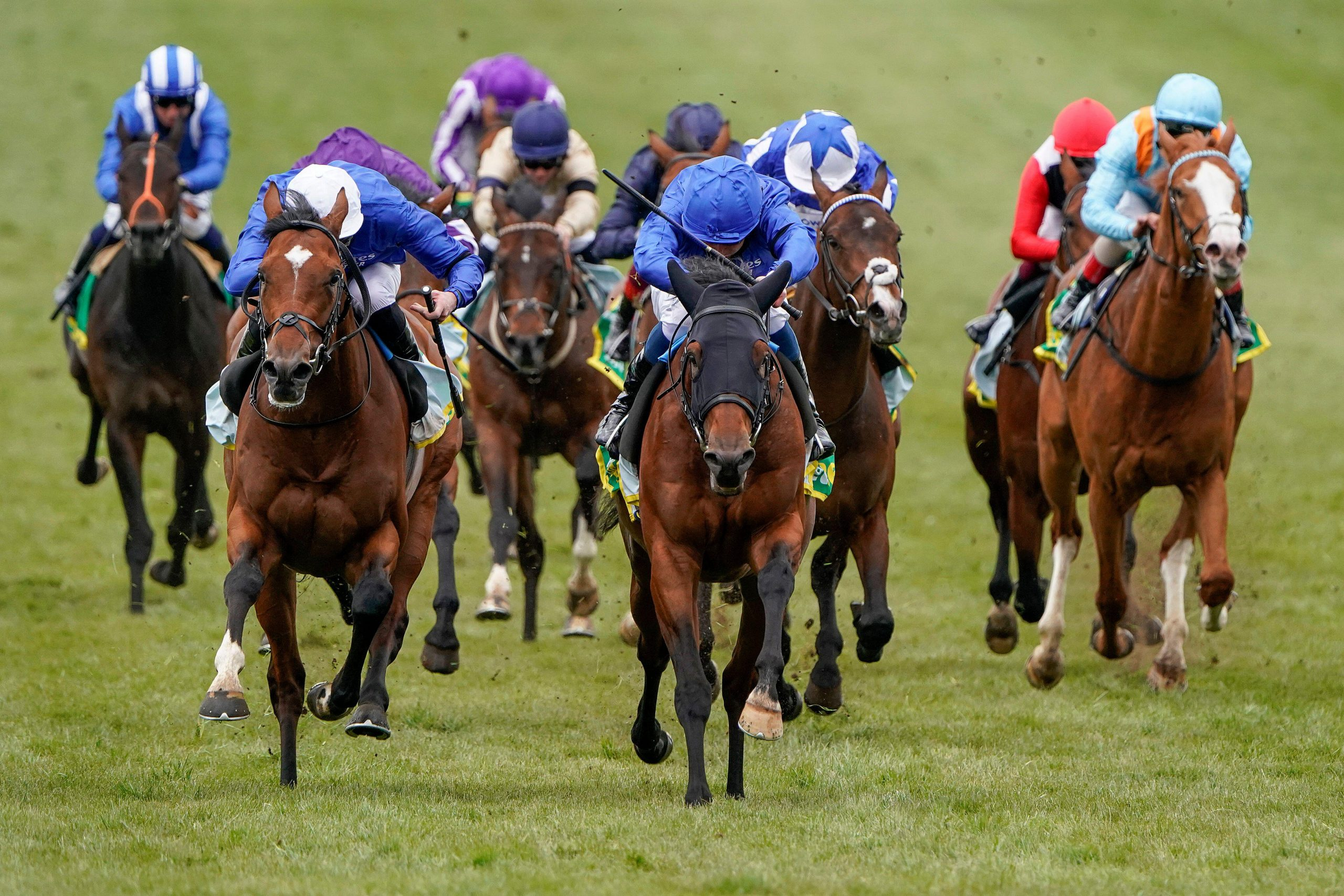 Master Of The Seas ridden by William Buick riding (centre) win The bet365 Craven Stakes at Newmarket Racecourse. Picture date: Thursday April 15, 2021.