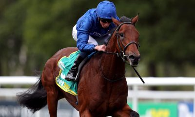 Master Of The Seas ridden by jockey William Buick wins the bet365 Superlative Stakes on day three of The Moet and Chandon July Festival at Newmarket Racecourse.