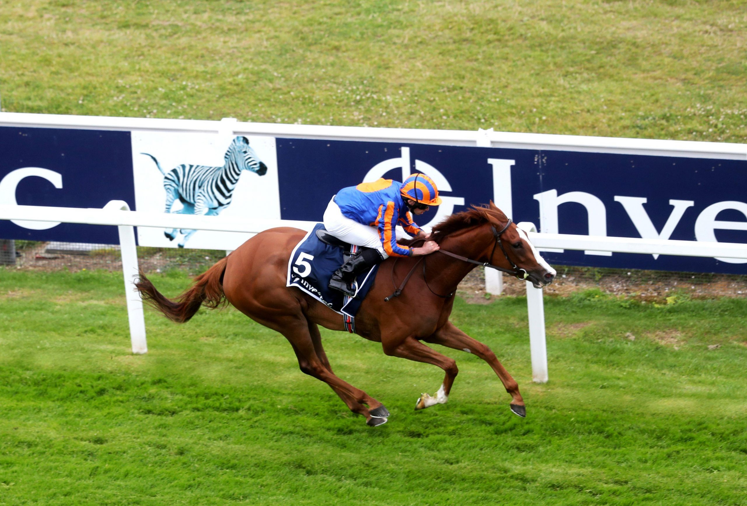 Horse Racing - Derby Festival - Epsom Downs Racecourse, Epsom, Britain - July 4, 2020 Love ridden by Ryan Moore wins the Investec Oaks, as racing resumed behind closed doors after the outbreak of the coronavirus disease (COVID-19) David Davies/Pool via