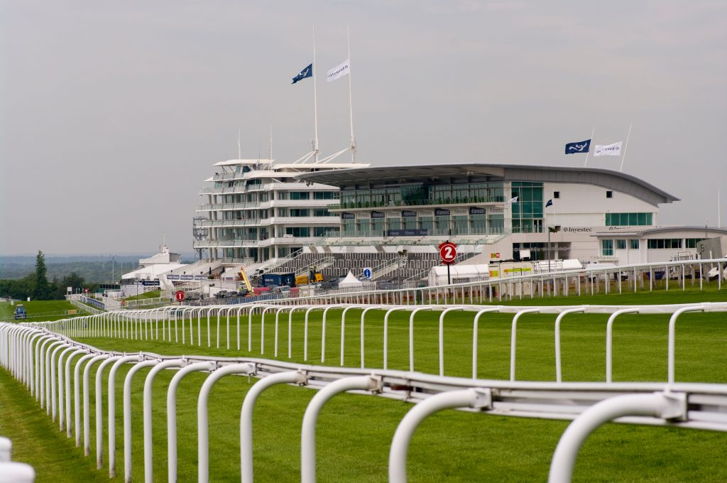 The Grandstand Complex at Epsom Downs Racecourse Surrey England