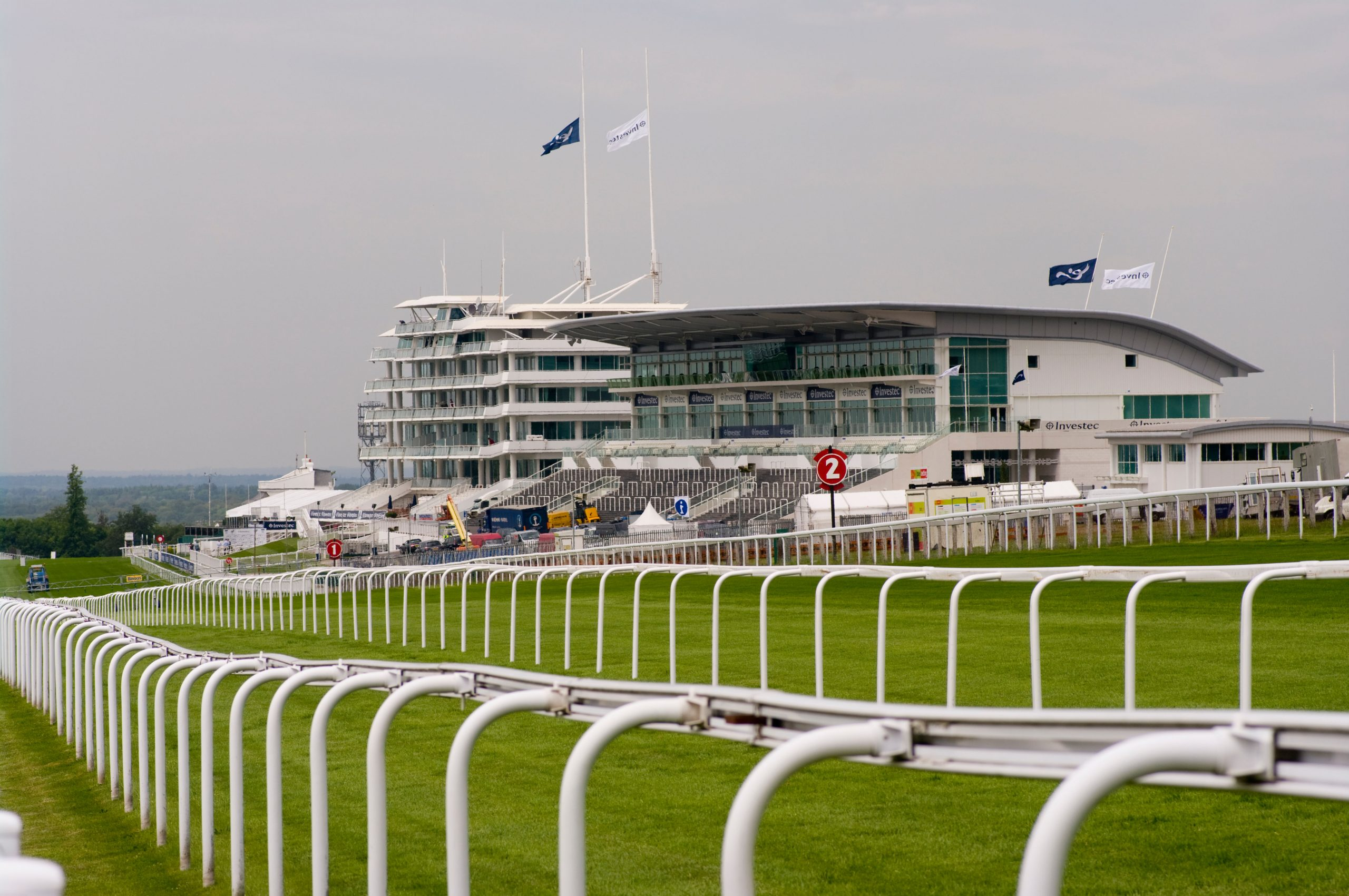 Home of the Oaks, The Grandstand Complex at Epsom Downs Racecourse Surrey England