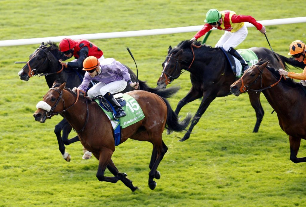 Makfi & Christophe Lemair in the 2000 Guineas at Newmarket