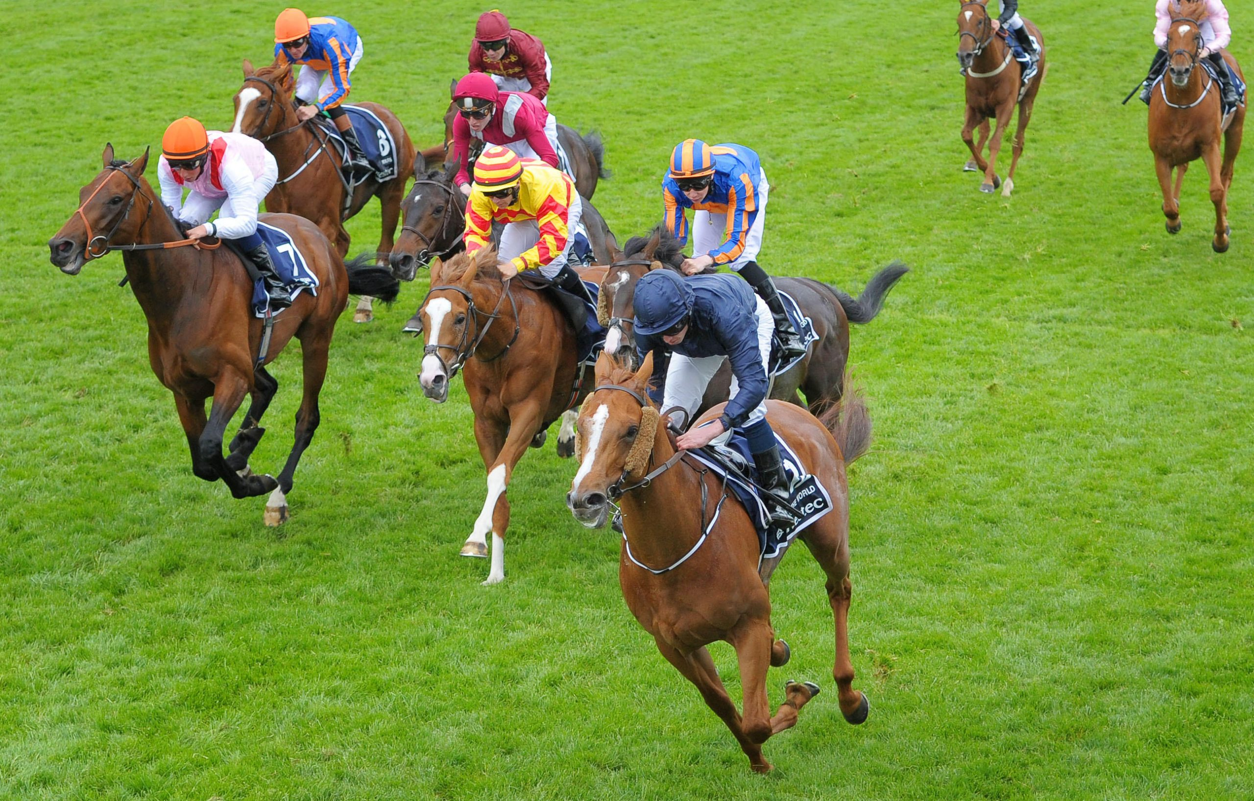 Ryan Moore on Ruler Of The World wins the Investec Derby on the Investec Derby Day at Epsom Downs Racecourse, Surrey.