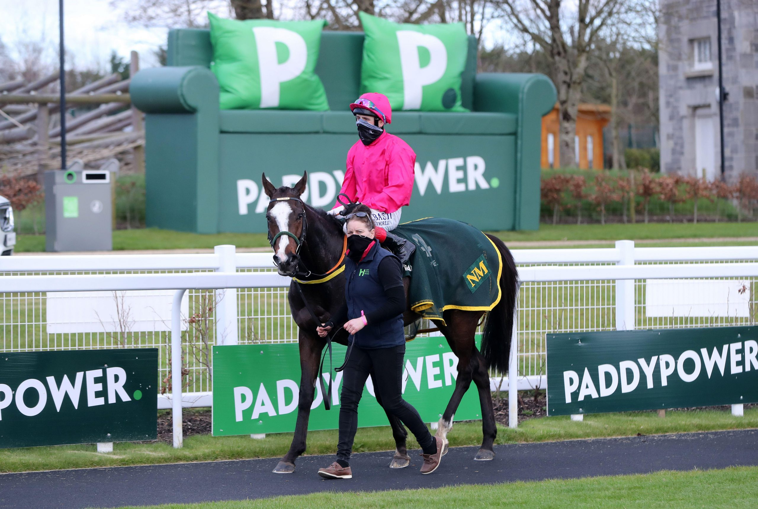 2F4GB7Y Layfayette ridden by Chris Hayes after winning the Paddy Power Irish Lincolnshire at Curragh Racecourse. Picture date: Sunday March 21, 2021.